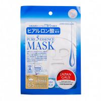 JAPAN GALS Pure5 Essence Маска с гиалуроновой кислотой 1 шт