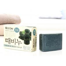 CJ Lion Скраб-мыло туалетное Rice Day древесный уголь