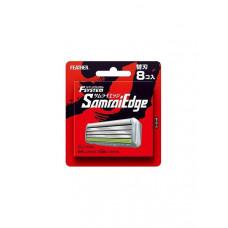 "Запасные кассеты с тройным лезвием д/станка Feather F-System ""Samurai Edge"" 8шт"
