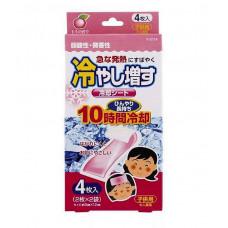 Пластырь охлаждающий гелевый (с ароматом персика), 4 шт, 10*12
