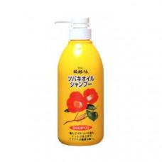 """""""KUROBARA"""" """"Tsubaki Oil"""" """"Чистое масло камелии"""" Шампунь для восстановления поврежденных волос с маслом камелии 500 мл."""