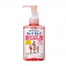 """""""Lion"""" """"KireiKirei"""" ополаскиватель для полости рта с антибактериальным эффектом и ментолово-персиковым вкусом, 200 мл.,"""