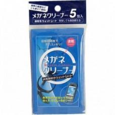 """""""Showa Siko"""" """"Megane"""" Влажные салфетки для очищения очков 25шт 110мм х 150мм"""