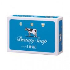 Молочное освежающее туалетное мыло с прохладным ароматом жасмина «Beauty Soap» синяя упаковка (кусок 85 г) × 3 шт