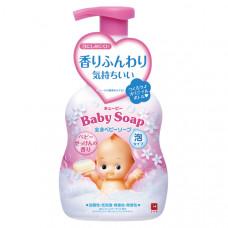"""Детская пенка""""2 в 1"""" для мытья волос и тела с первых дней жизни с ароматом детского мыла (""""Без слёз"""") """"Kewpie"""" (помпа 400 мл)"""