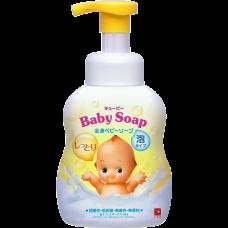 """Детская пенка""""2 в 1"""" для мытья волос и тела с первых дней жизни (""""Без слёз"""") """"Kewpie"""" (помпа 400 мл)"""