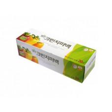 Пакеты полиэтиленовые пищевые с застежкой – зиппером (в коробке) 25см*30см, 20 шт
