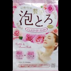 Ароматическая пенящаяся соль для ванны с коллагеном  и гиалуроновой кислотой «Роскошная роза» (1 пакет 30 г)