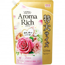 """Кондиционер для белья - с богатым ароматом натуральных масел """"Soflan Aroma Rich Diana"""" - """"Диана"""" (мягкая упаковка с крышкой) 1210 мл"""