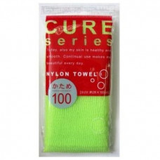 """OHE"" ""CURE series"" Мочалка для тела жесткая, 100 см. (зелёная),"