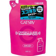 """Mandom Мужской шампунь """"Gatsby Perfect Clear shampoo"""" для экстрасильного очищения волос и кожи головы с охлаждающим эффектом против перхоти МУ 320 мл"""