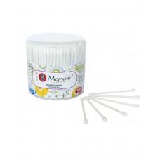 """Палочки ватные гигиенические """"Maneki"""", серия Lovely, с белым пластиковым стиком, в пластиковом стакане, 300 шт./упак"""