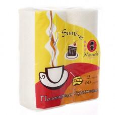 """Полотенца кухонные бумажные """"Maneki"""", серия Sumi-e, 2 слоя, 60 л., белые, 2 рулона"""