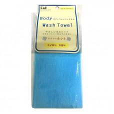 KAI Мочалка для тела (с плотным плетением жесткая) 30*100см, Цвет: Ярко синий 1шт