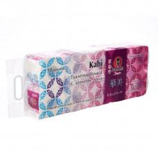 """Бумага туалетная """"Maneki"""", серия Kabi, 3 слоя, 280 л., 39.2 м, гладкая, белая с ароматом Ириса, 10 рулонов/упаковка"""