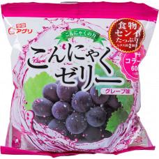 """Желе """"Yukiguni Aguri"""" порционное Конняку со вкусом винограда (6шт х18г), 108г"""