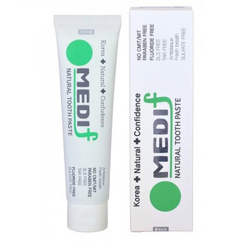 Medif toothpaste Зубная паста комплексного действия (с частицами серебра, древесным углем и растительными экстрактами), 130г