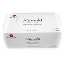 "Maneki Салфетки бумажные ""Maneki"" Black&White с ароматом жасмина, 2 слоя, белые, 224 шт./коробка"