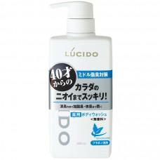 """Mandom Мужское жидкое мыло """"Lucido Deodorant Body Wash"""" для нейтрализации неприятного запаха с антибактериальным эффектом и флавоноидами (для мужчин после 40 лет) 450 мл"""