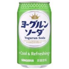 SANGARIA YOGURUN SODA со вкусом йогурта, напиток б/а газированный, 350 г, ж/б,