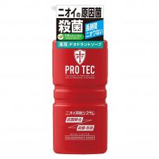 """LION Мужское дезодорирующее жидкое мыло для тела с ментолом """"PRO TEC"""" (помпа) 420мл"""