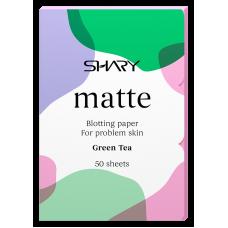 """Shary  Матирующие салфетки для лица """"Зеленый чай"""" для проблемной кожи  12 г"""