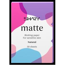 """Shary  Матирующие салфетки для лица """"Натуральные"""" для чувствительной кожи  12 г"""