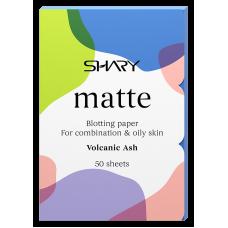 """Shary  Матирующие салфетки для лица """"Вулканический пепел"""" для комбинированной и жирной кожи  12 г"""