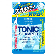 """Kose Cosmeport """"Men's Softymo"""" Мужской тонизирующий шампунь для волос,цитрис,см/б  400 мл."""