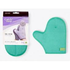 Двусторонняя  перчатка-варежка для стеклянных и глянцевых поверхностей CATCHMOP изумрудный