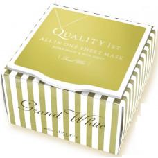 Qualuty 1st Grand White. Выравнивающая цвет кожи лица маска Гранд Quality 1st