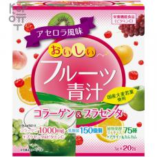 """""""Yuwa"""" Концентрат для приготовления безалкогольных напитков """"Аодзиру с фруктами"""" (киви, персик) 3гр.*20шт."""