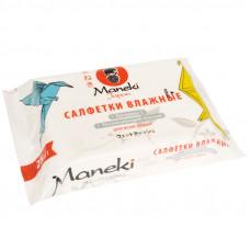 """Салфетки влажные """"Maneki"""", серия Kaiteki для всей семьи с витамином Е и увлажняющим лосьоном, 25 шт./упак"""