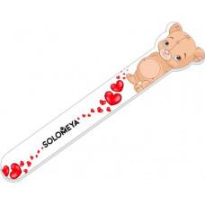 """Solomeya Пилка д/натур. и искусств.ногтей#180/220 """"Плюшевый мишка""""/ Teddy bear Nail File"""