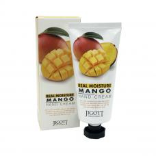 """""""Jigott"""" Real Moisture Mango Hand Cream Увлажняющий крем для рук с экстрактом манго 100 мл"""