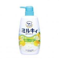 COW Жидкое мыло для тела c ароматом цитрусовых, 550 мл (Желто-зеленый)