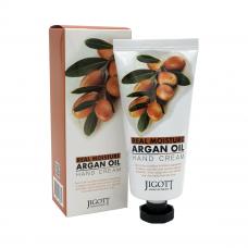 """""""Jigott"""" Real Moisture Argan Oil Hand Cream Увлажняющий крем для рук с аргановым маслом 100 мл"""