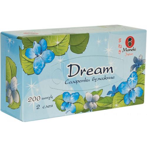 Maneki Салфетки бумажные Dream в коробке 2 слоя 200 шт.