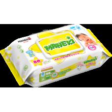 """Maneki Салфетки влажные """"Maneki"""", детские с экстрактом ромашки и алоэ вера, 80 шт./упак"""